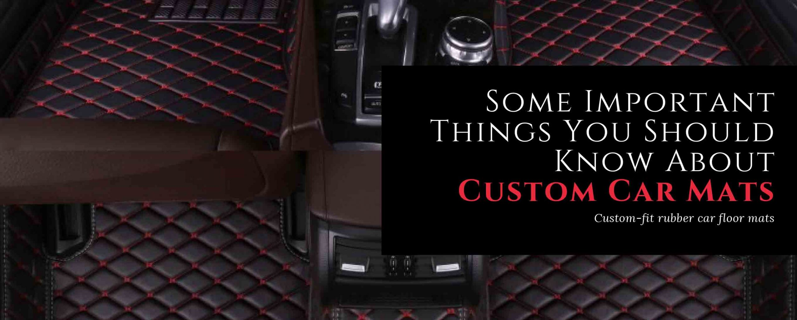 Some Important Things You Should Know About Custom Car Mats - MudSmart